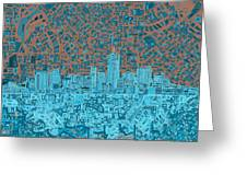 Denver Skyline Abstract Greeting Card
