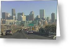 Denver Skyline View East From Speer 12 10 2011 Greeting Card