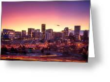 Denver Sunrise Greeting Card