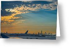 Departing From Ewr  Greeting Card
