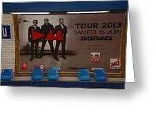 Depech Mode Tour Greeting Card