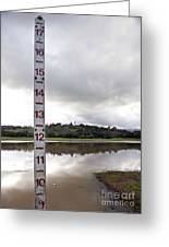 Depth Measuring Stick Lake Lagunita Stanford University Greeting Card