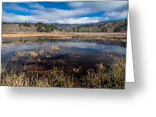 Depths Of Dry Lagoon Greeting Card