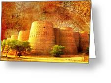 Derawar Fort Greeting Card