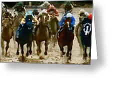 Derby Day Two Of Three Greeting Card