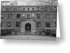Derby Hall Black And White  Greeting Card