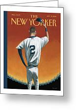 Derek Jeter Bows Out Greeting Card