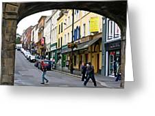 Derry Life - Irish Art By Charlie Brock Greeting Card