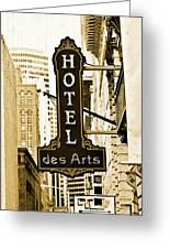 Art Hotel Greeting Card