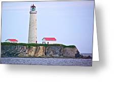 Des-rosiers Lighthouse Is Canada's Tallest In Forillon Np-qc Greeting Card