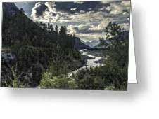 Desaturated Mountainscape Greeting Card