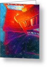 Descending The Stardust Stairway Greeting Card