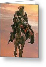 Desert. Bedouin. Greeting Card