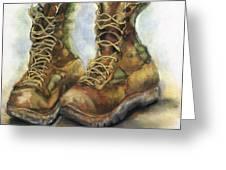 Desert Boots Greeting Card