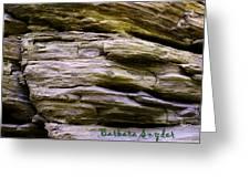 Desert Boulder Detail Greeting Card