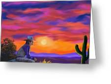 Desert Camp Greeting Card