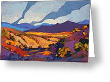 Desert Contrast Greeting Card by Erin Hanson
