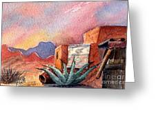 Desert Doorway Greeting Card