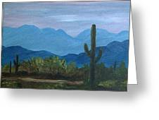 Desert Evening Greeting Card