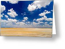 Desert Flatlands Greeting Card