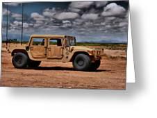 Desert Humvee Greeting Card