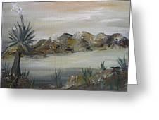 Desert In Monachrome Greeting Card