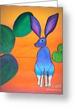 Desert Jackrabbit Greeting Card