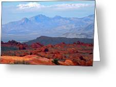 Desert Mountain Vista Greeting Card