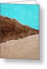 Desert Mountains Original Painting Greeting Card