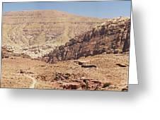 Desert Of Wadi Musa Greeting Card
