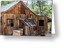 Desert Outback Farm Building Greeting Card