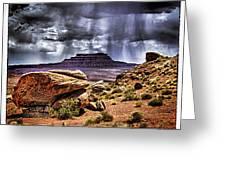 Desert Rain Greeting Card by David Neely