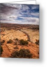 Desert Road Greeting Card