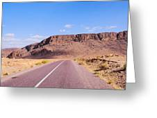 Desert Road In Morocco Greeting Card