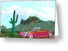 Desert Roadster 34 Ford Greeting Card