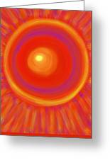 Desert Sunburst Greeting Card by Daina White