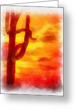 Desert Sunset Photo Art 01 Greeting Card