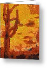 Desert Sunset Photo Art 04 Greeting Card
