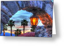 Desert Sunset View Greeting Card