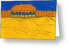 Desert Temple Greeting Card by Frances Garry
