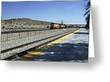Desert Train Greeting Card