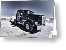 Desert Trucking  Greeting Card