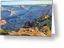 Desert View-morning Greeting Card by Paul Krapf