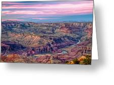 Desert View Sunset Greeting Card