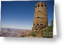 Desert Watchview Tower Grand Canyon Greeting Card
