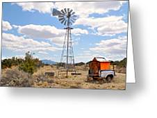 Desert Windmill Greeting Card