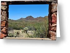 Desert Window Greeting Card