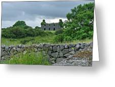 Deserted Building In Ireland Greeting Card