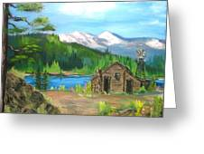 Deserted Cabin Greeting Card