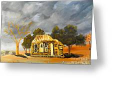 Deserted Castlemain Farmhouse Greeting Card